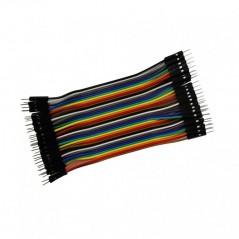 40 pin Dual Male Splittable Jumper Wire- 100mm (ER-PCW40020W)