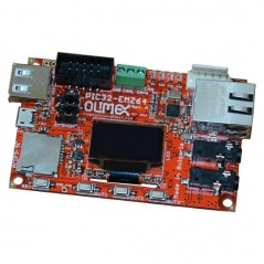 PIC32-EMZ64 (Olimex) DEVELOPMENT BOARD WITH PIC32MZ2048EFH064