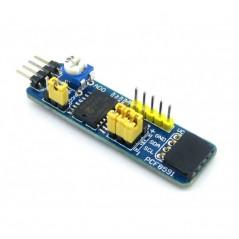 PCF8591 AD DA Board (Waveshare) A/D & D/A Converter, I2C interface, 8bit resolution, 4 channel AD, 1 channel DA, voltage output