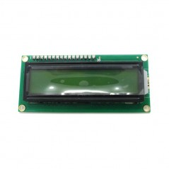 UART Serial 2x16 LCD LCM Display Module Yellow 5V  (IM120717005) universal use for Arduino,..