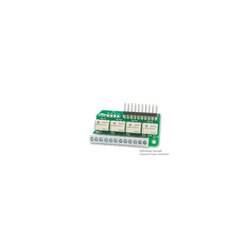 PIFACE  PIFACE RELAY EXTRA  RASPBERRY PI RELAY BOARD, 4 GPIO