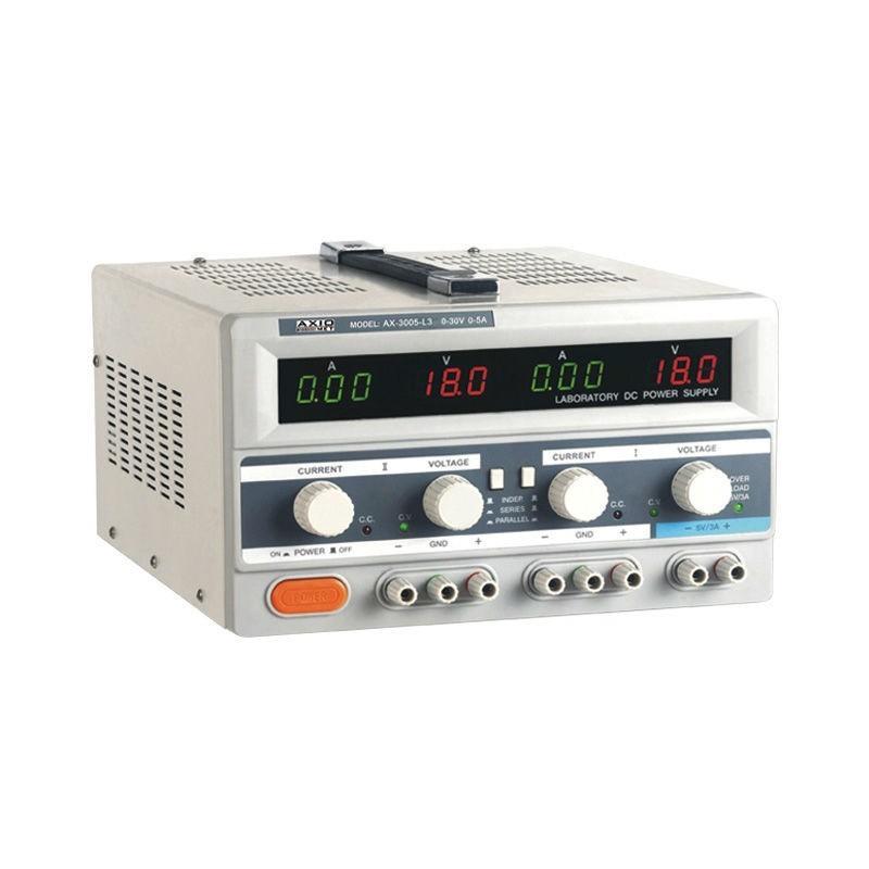 AX-3003L-3 (AXIOMET) Zdroj  0-30VDC/ 0-3A,  0-30VDC/ 0-3A,   5VDC /  3A