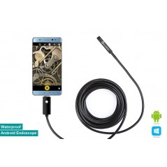 8mm Waterproof Android OTG Endoscope USB Inspection Snake Tube External Camera 5m (ER-TET95069E)