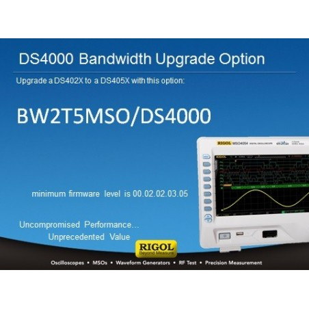 BW2T5-MSO/DS4000 (Rigol) Bandwidth upgrade form 200MHz to 500MHz for MSO/DS402x